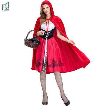 Halloween Adult Role-Playing American Woman Sexy Little Red Riding Hood With Cloak Costume