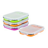 Professional Custom Silicone Folding Lunch Box, Bento Silicone Food Container For Kids