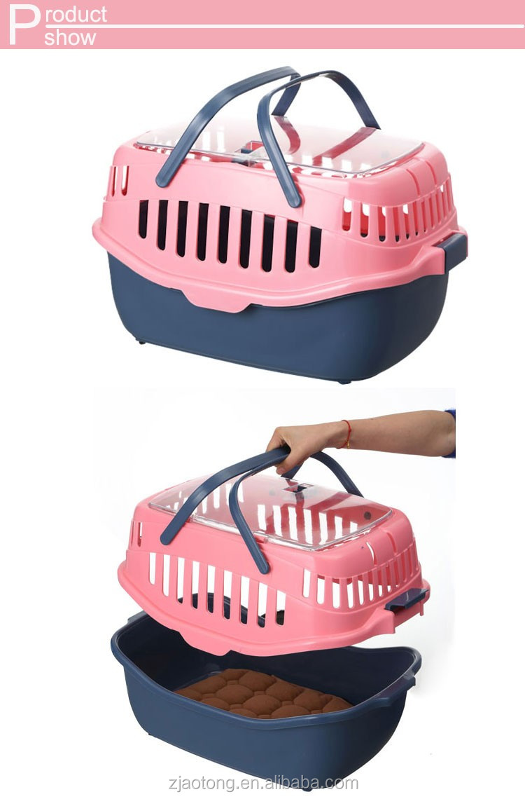 christmas Factory Wholesale Pet Products Fashion Plastic Pet Carrier For Dogs And Cats