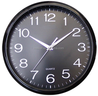 Customized 12inch cheap plastic promotional gifts wall clocks