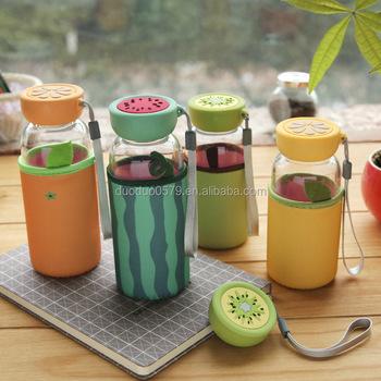Creative Cartoon Glass Korean Fashion Water Bottle Buy Water