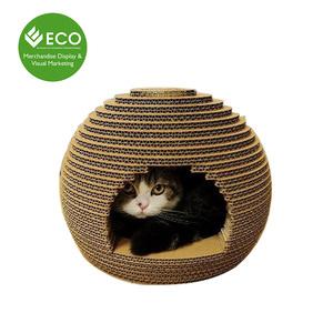 Hot Sale Creative Corrugated Cardboard Cat Scratcher Toys Cat House