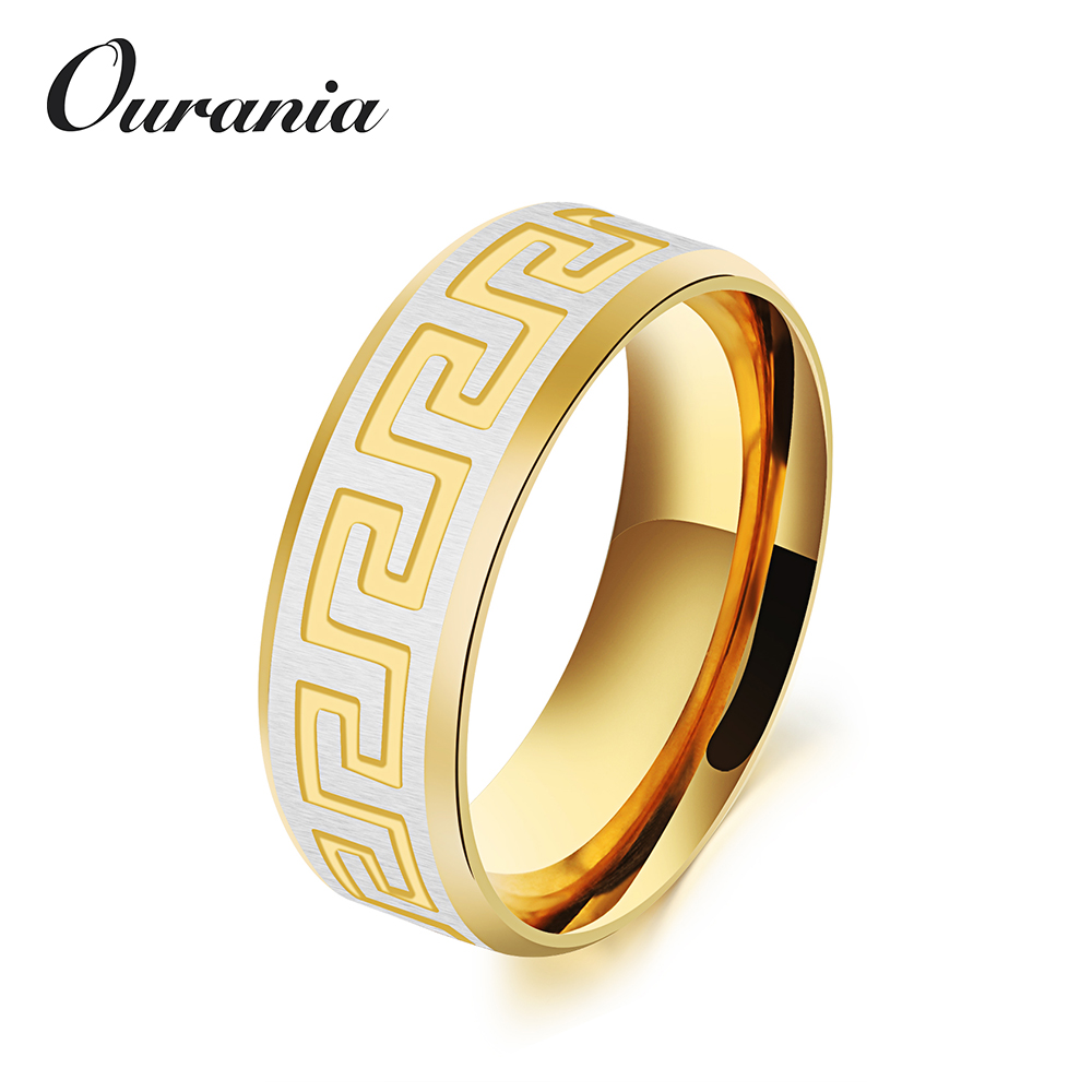Wholesale 2017 Mens Titanium Engagement Wedding Rings with Great Wall Surface