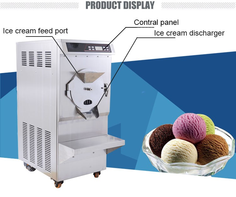 2017 Best-selling hard ice cream machine/ batch freezer BKN-120