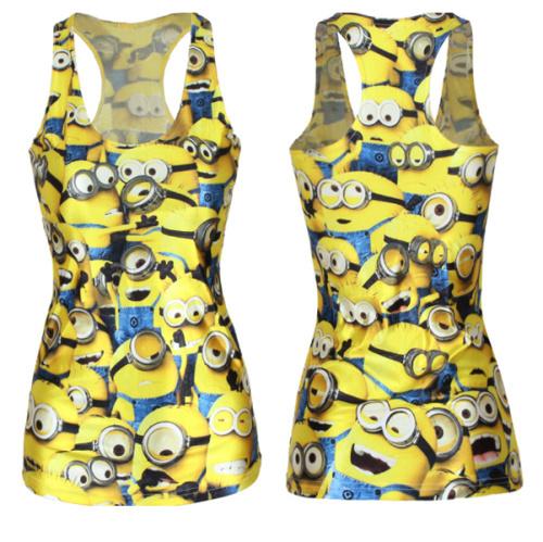 V142 гадкий я распечатать тим миньон женщины футболка мода желтый камзол женский жилет сексуальные танки