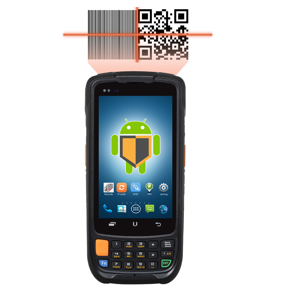 IP65 4G LTE Rugged handheld android bar code scaner with GPS NFC