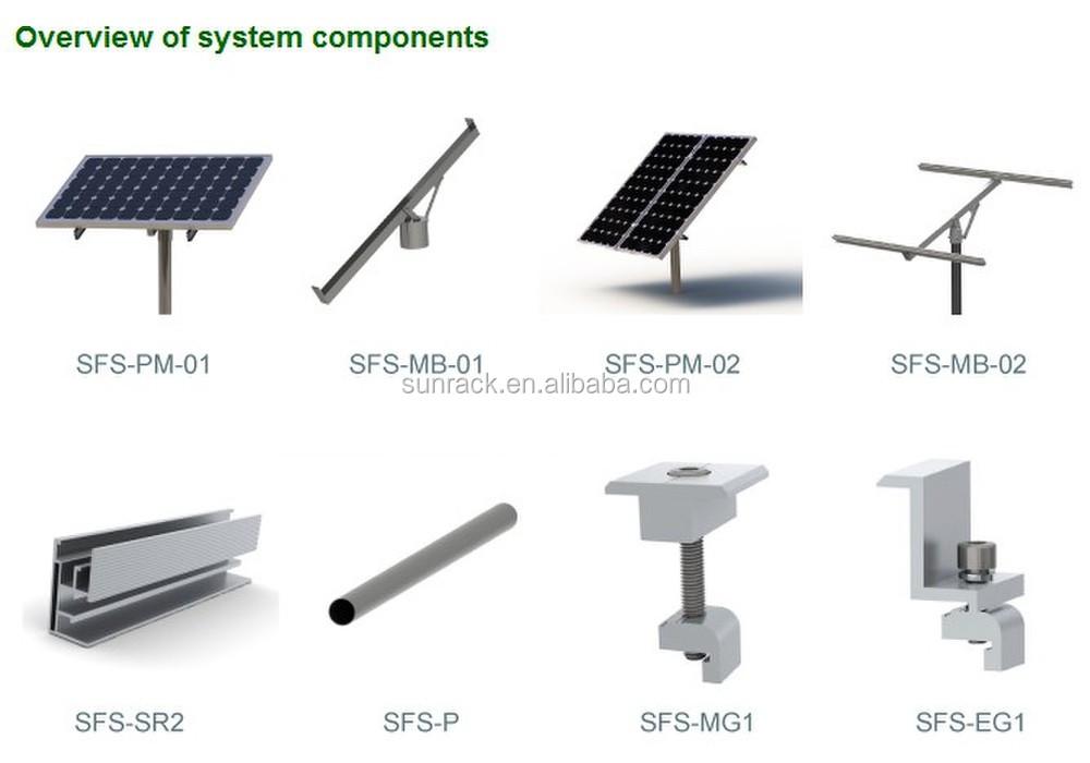 Adjustable Single Pole Solar Panel Mount With Screw Bottom