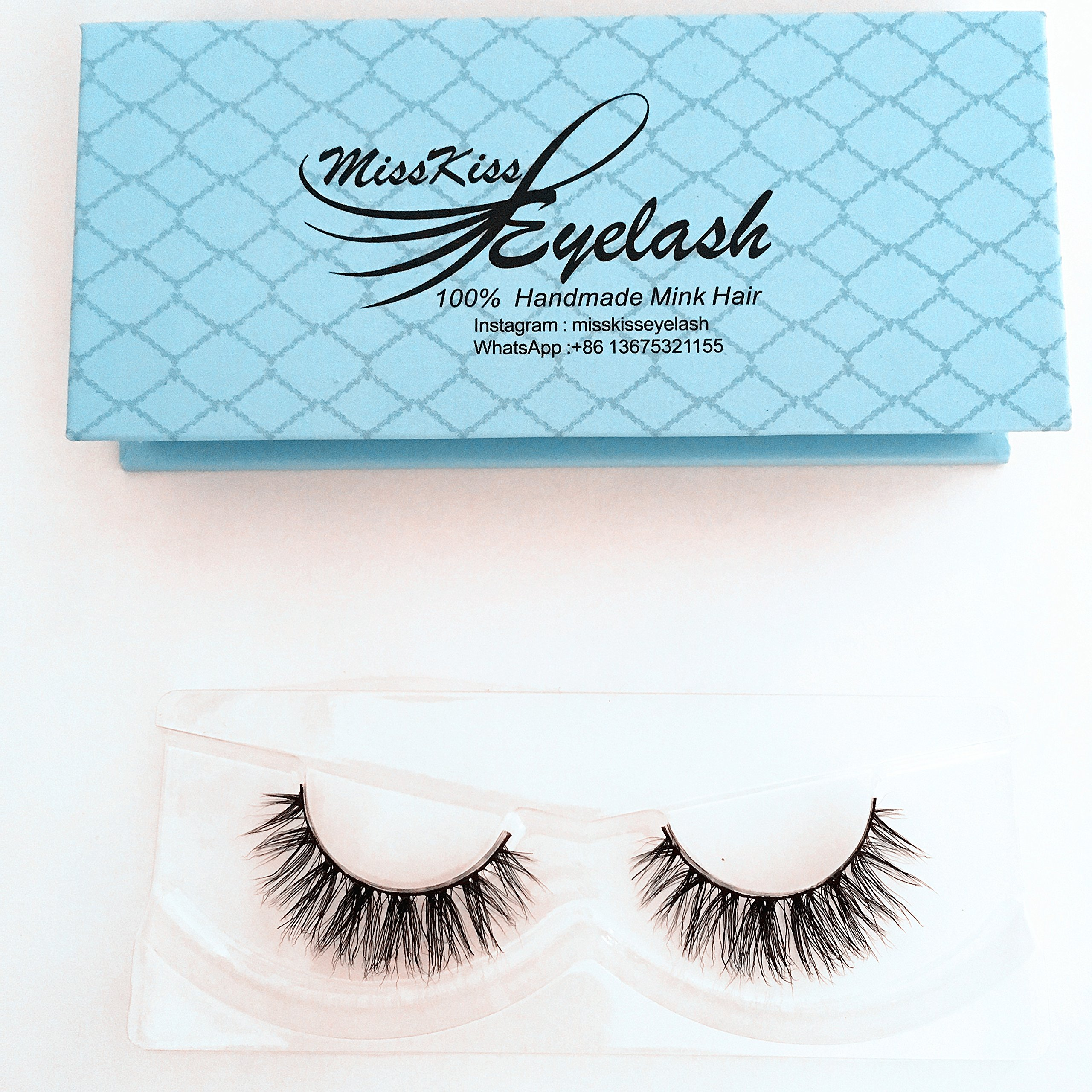 df9eada7422 Mink Lashes Strip Natural Style Siberian Fur Fake Eyelashes Hand-made False  Eyelash 1 Pair