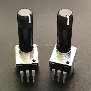 30mm insulation white line shaft 9mm rotary potentiometer