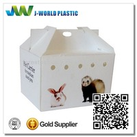 Pet carrier with pp corrugated sheet