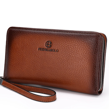 Handy Bags Business carteras de mujer Black Brown Dollar Price Luxury Male Leather Purse Men Clutch Wallets