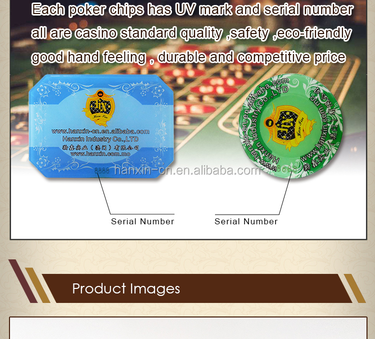 Super Quality Round Crystal Acrylic Poker Chips for Sale