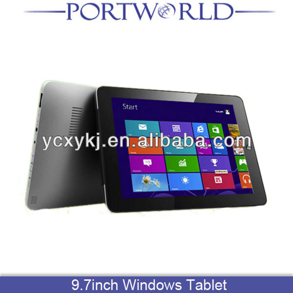 "9.7"" IPS Screen Intel N2600 Dual Core 1.6GHz 4G RAM+32/64/128G WiFi 3G Fingerprint Security Lock tablet pc windows 7 cheap"