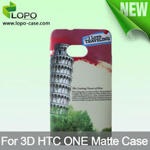 Good price sublimation 3D case for HTC one M7