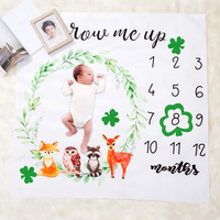 Amazon Newborn Girls or Boys Photo Prop Soft Photography Background Baby Monthly Milestone Blanket