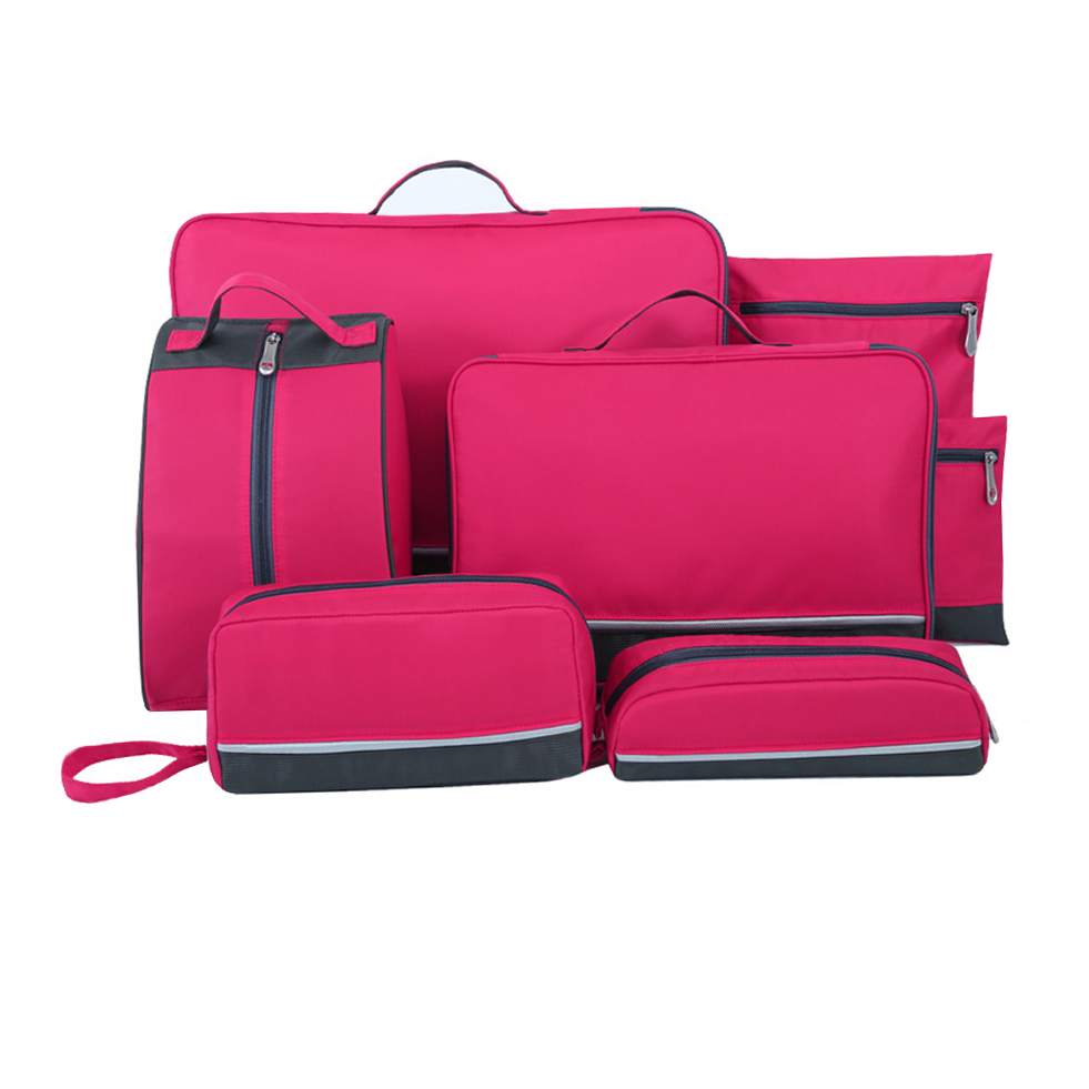7e6a153ab463 7pcs set laundry travel bag pack organizer, clothes underwear shoe storage  toiletry traveling packing cubes kits compartments