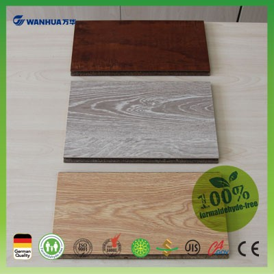 18 mm straw based mdf with melamine finish for furniture making