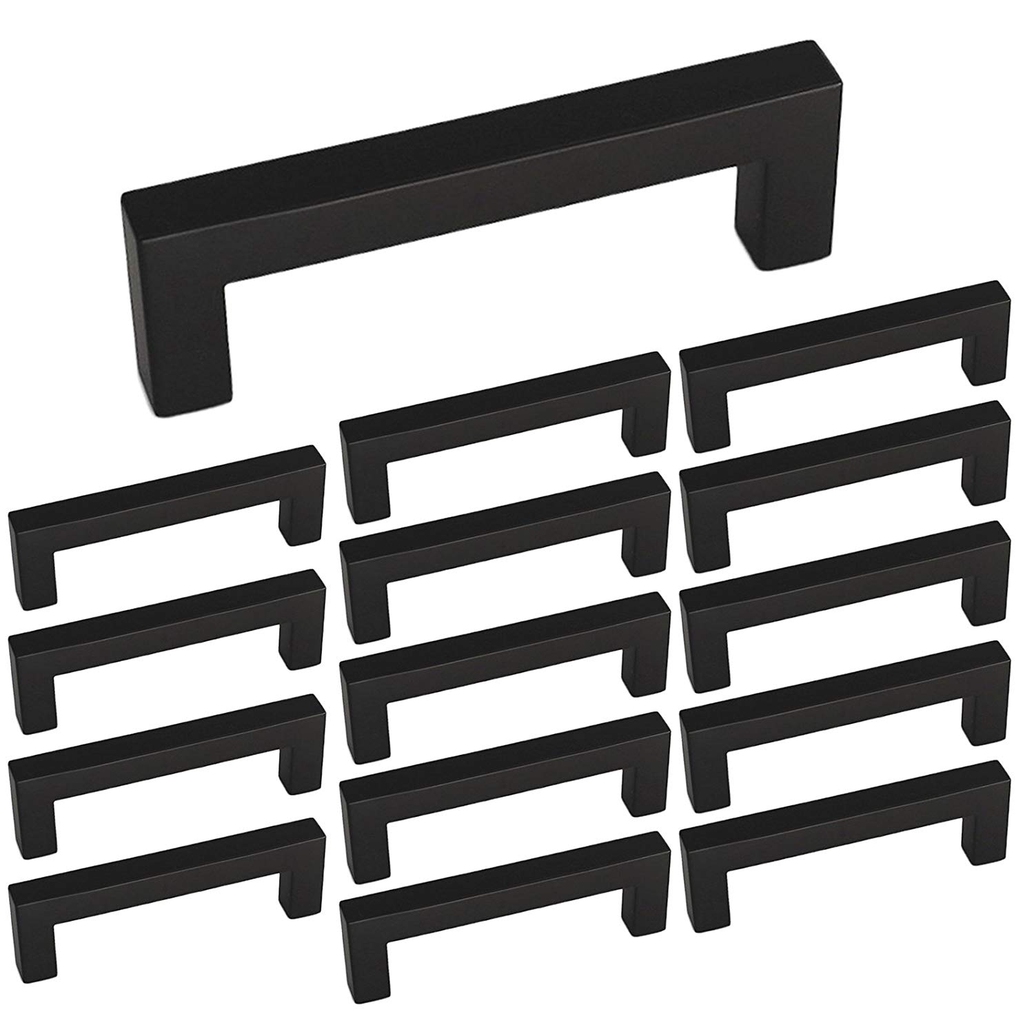 Get Quotations Homdiy Black Square Drawer Pulls For Cabinets Cabinet 3 Inch Center To