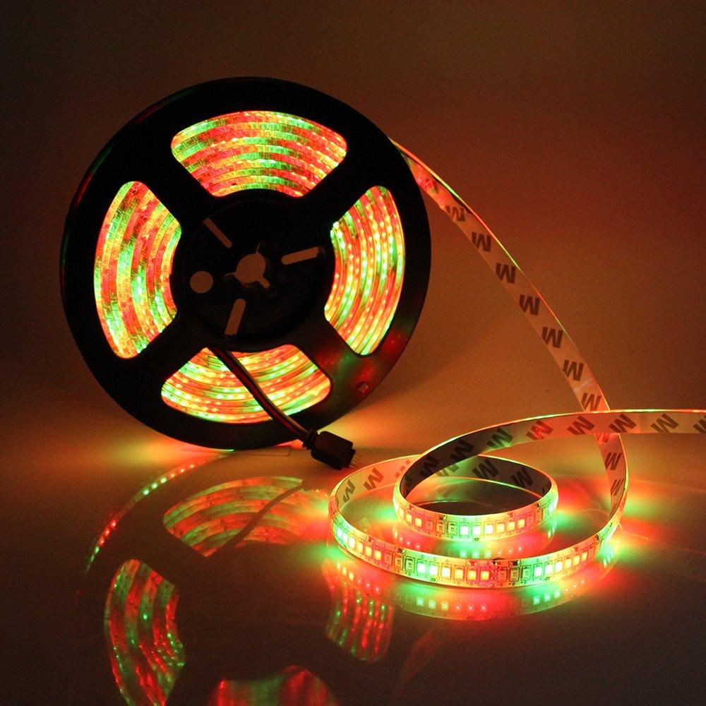LED Light Strip Waterproof, SZMiNiLED LED Ribbon Strip Multi-color 16.4 Feet SMD 2835 1170 LEDs Dimmable Flexible Super Bright LED Light Strip for Decoration