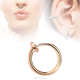 15 mm Wide Spring Nose Piercing Fake Septum Female Piercing Tongue Piercings