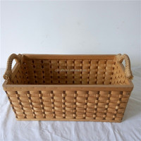 Factory wholesale woodchip picnic baskets Gift hamper easter picnic baskets