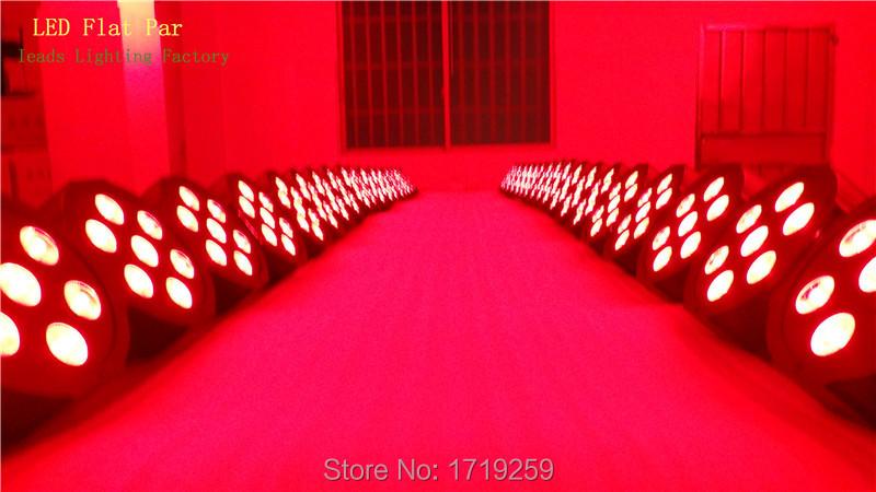 Fast Shipping Super Bright LED Par RGB SlimPar Tri 7 LED Stage Wash Lighting for Wedding Concert Parties DJ
