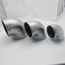 Galvanized malleable cast iron pipe fittings elbow