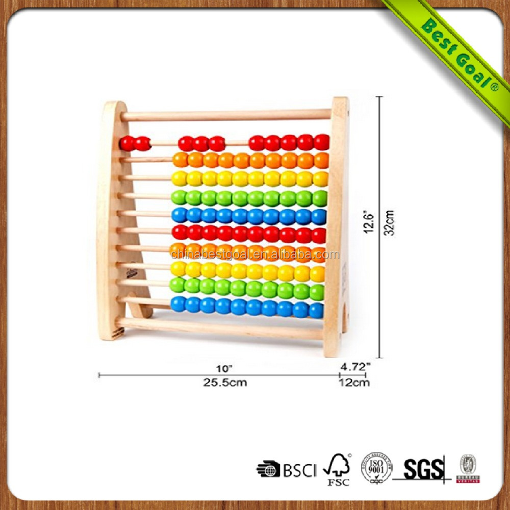Classic Wooden Educational Counting Toy With 100 Beads