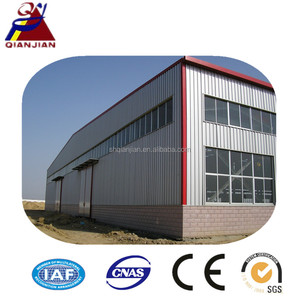 Light Prefabricated Steel Frame House for Warehouse/Workshop with