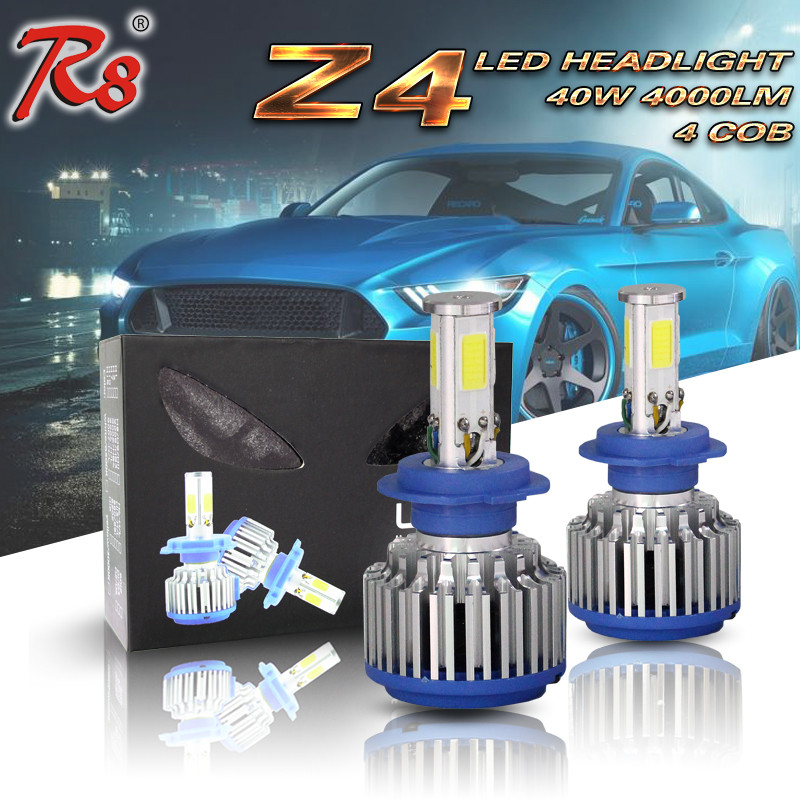 Auto Parts LED Head Lamp Z4 H7 LED Head Light 12V 40W Auto LED Headlight