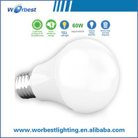 High quality power saving china factory led lamp 7w 9w 12w 240degree cri80