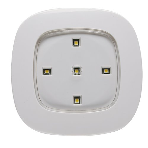 Light It! By Fulcrum 30020-308, Remote Control Compatible 5 LED Wireless Ceiling Light, 4 Inch, White