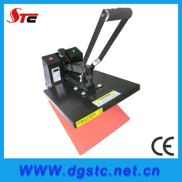 sublimation high pressure heat press machine manual printing press machine with different sizes