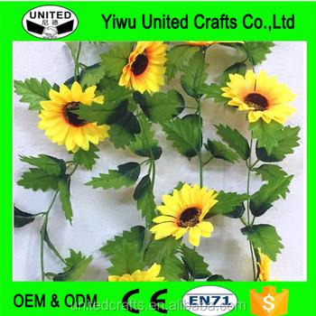 240cm Sunflower Artificial Silk Fake Flowers Ivy Leaf Home Wedding