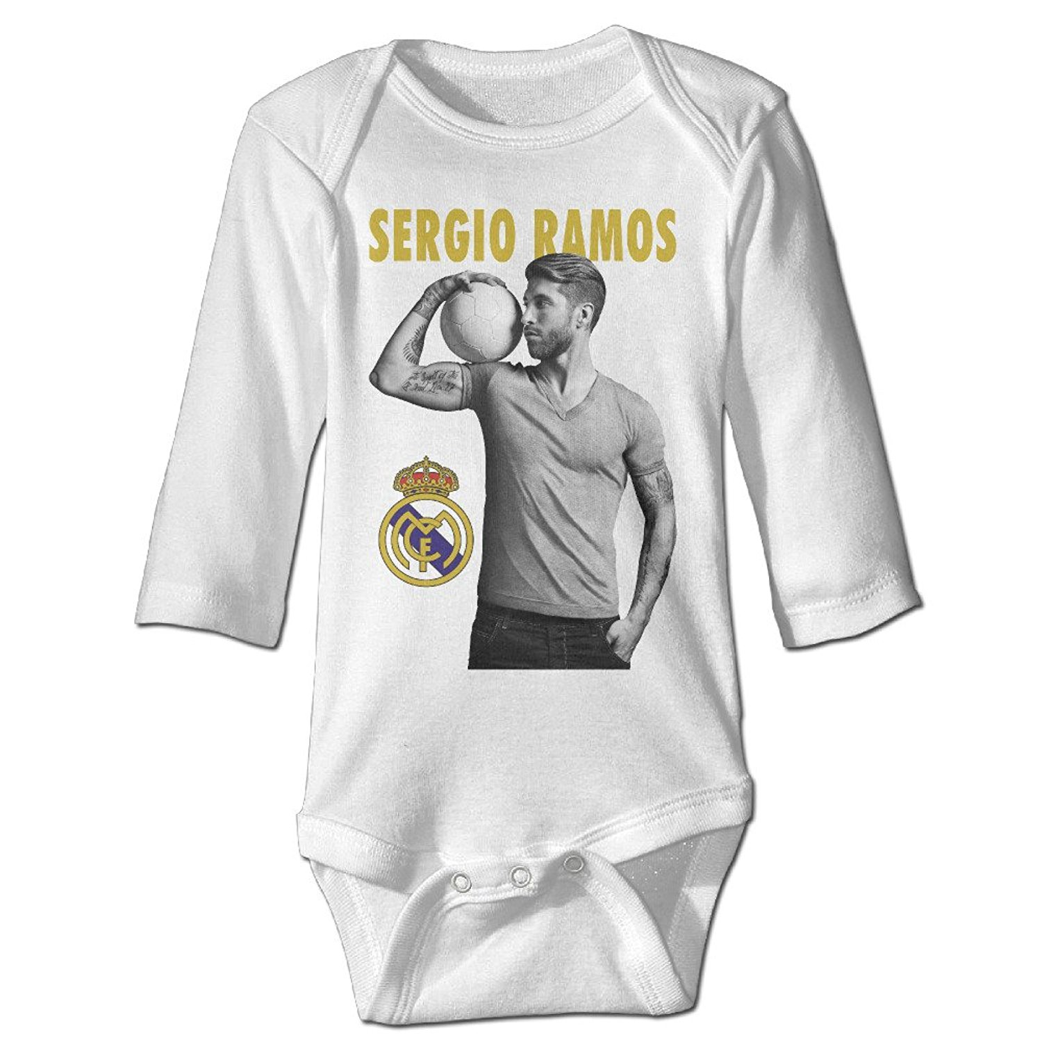 d13420a33 Get Quotations · PGiG Baby s Sergio Ramos Real Madrid CF Hanging Bodysuit  Romper Playsuit Outfits Clothes Climbing Clothes Long