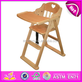 Professional Baby High Chair Wood High Quality Antique Wood Baby