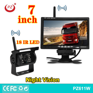 waterproof heavy duty night vision wireless rearview camera 7 inch monitor