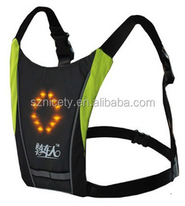 amazon hot sale wireless usb charge Cycling Safety LED Flashing Lighted Reflective Running Vest