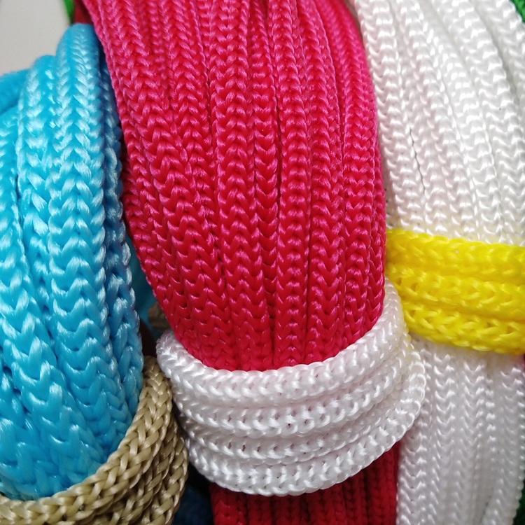 Braided 4mm 6mm Cotton PP Nylon Braid Packing Bag Rope Handle Rope
