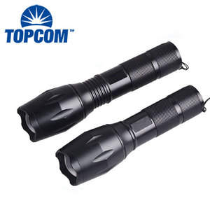 Promotion Bright 5 Modes led flashlight Zoomable T6 LED 18650 Flashlight Focus Torch