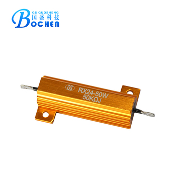 Gold Aluminum Housed wire-wound power resistor RX24 ptc thermal resistor