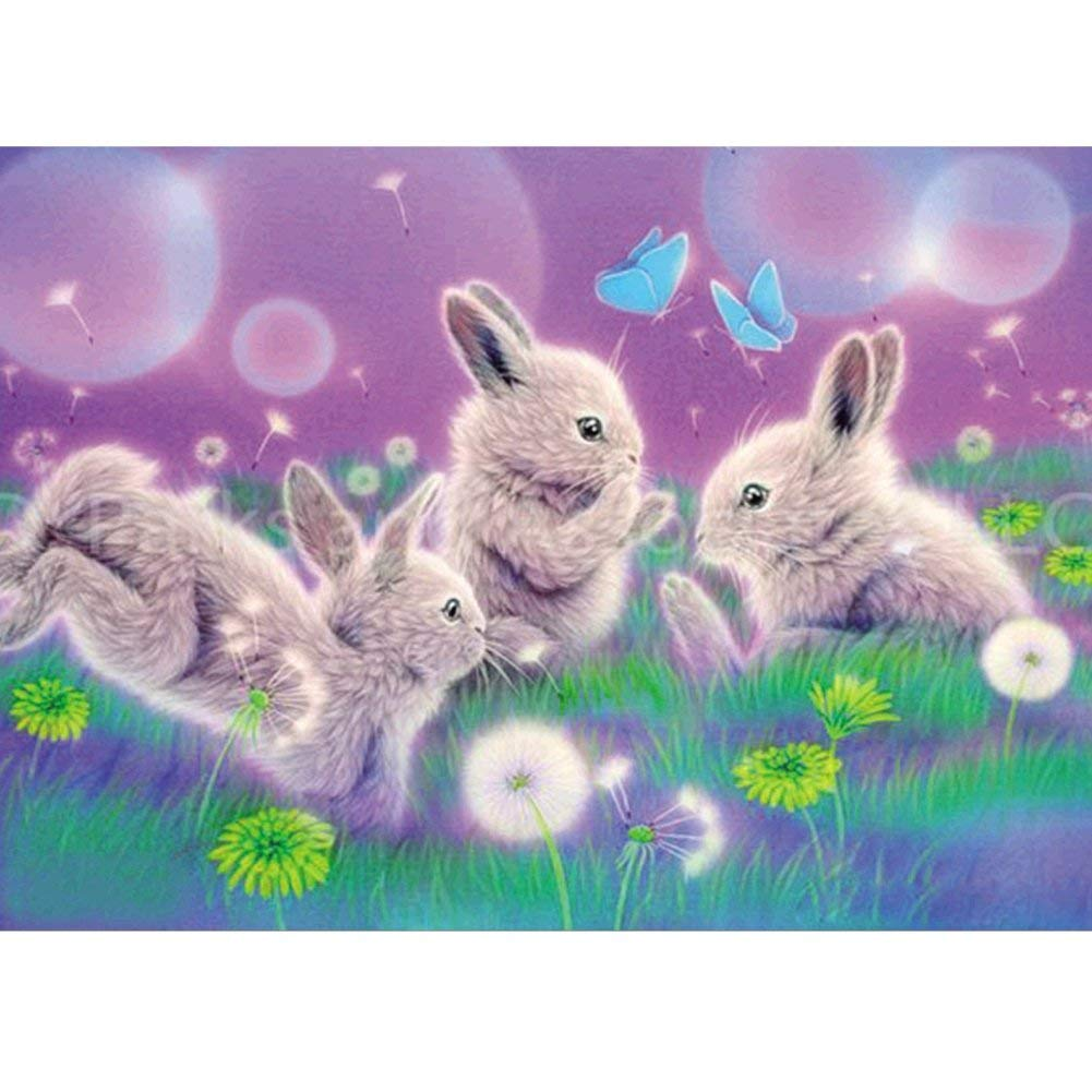Fairylove 30×40 Diamond Painting Diamond Dotz Bunny Bead Painting Kit Diamond Art Kits for Adults, Bunny