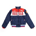High quality Russian Olympic team bosco sports casual Men autumn winter cotton padded jacket russia sport