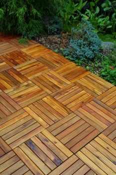 Vifah Plantation Grown Teak Deck Tiles