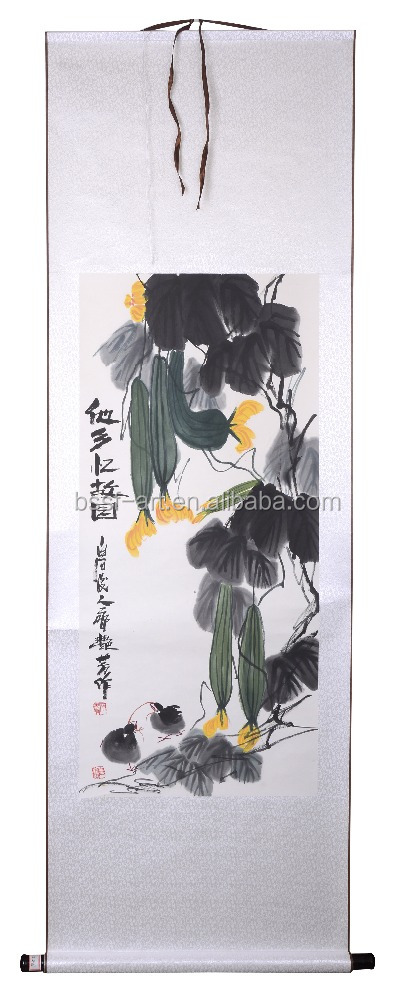 Wall hanging decoration famous Chinese ink and wash painting by Qi YanFang, Chinese calligraphy