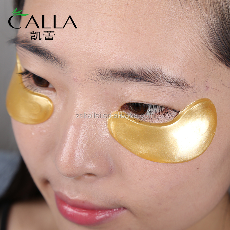 Private Label 24 K polvere d'oro gel eye patch