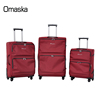 New Design High Quality Anti Zipper 4 Spinner Wheels 3pcs Leisure Unique Large Capacity Nylon Travel Trolley Luggage Set