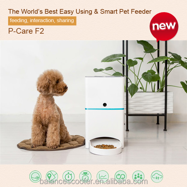Pet Products APP Remote Control Smart Feeder with 30w HD Camera Timed Cat Feeder