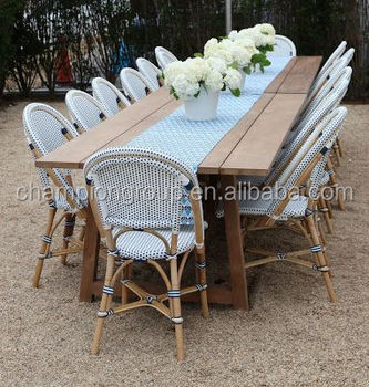New Design French Bistro Chair Teak