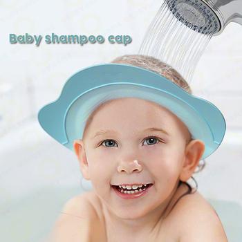 Baby Shower Cap / Kids Bathing Head Cap/ Kids Shower Wash Hair Cover ...